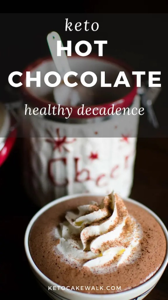 This low carb hot chocolate mix can be made ahead so you can have decadent, healthy hot chocolate at a moment's notice! #lowcarb #keto #healthy #hotcocoa #chocolate