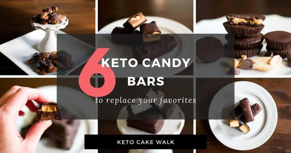 6 Keto Candy Bar Recipes -keto cake walk-