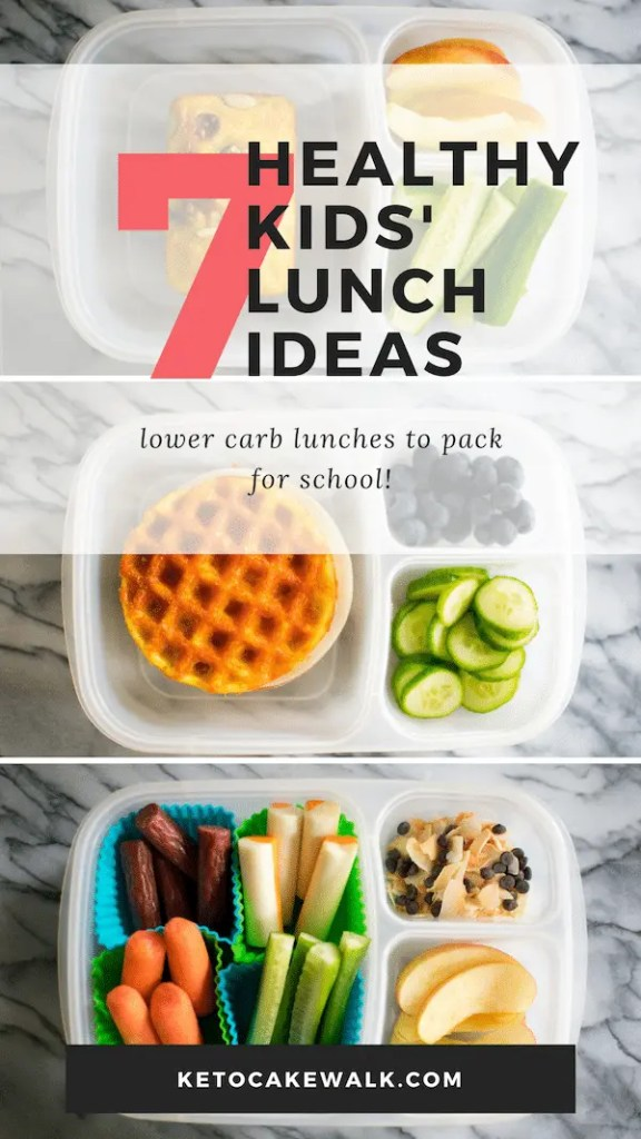 These healthy lunch box ideas are sure to be a hit with your kids and will set them up for success in school by keeping them fuller for longer! #lowcarb #healthy #lunch #ideas #kids #lunchbox #school