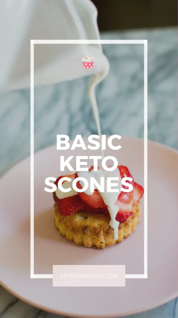 Tender flaky low carb scones will make your mornings better! These classic scones go perfectly with jam and cream, or mix in your favorite flavors to create your own! Only 3.5g net carbs per scone. #lowcarb #keto #scones #easy #breakfast #brunch #glutenfree #grainfree #sugarfree