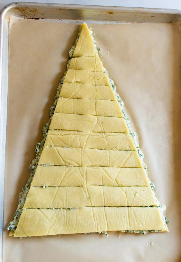 Keto Spinach Artichoke Christmas Tree Appetizer -keto cake walk-