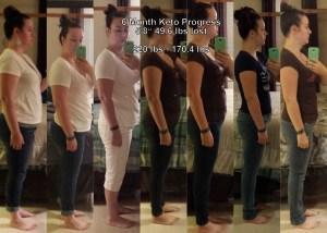 Keto 6 month progress side