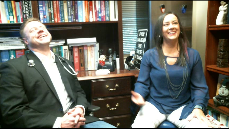 Dr. Nally and Carole Freeman chatting about keto