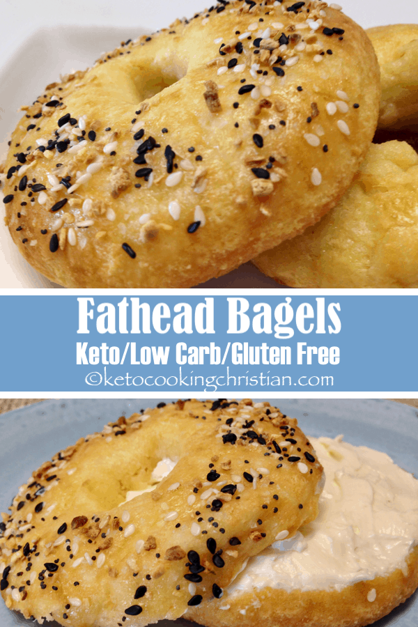 Bagels with Fathead Dough - Keto, Low Carb & Gluten Free