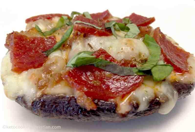 Portobello Mushroom Mini Pizza - Keto and Low Carb
