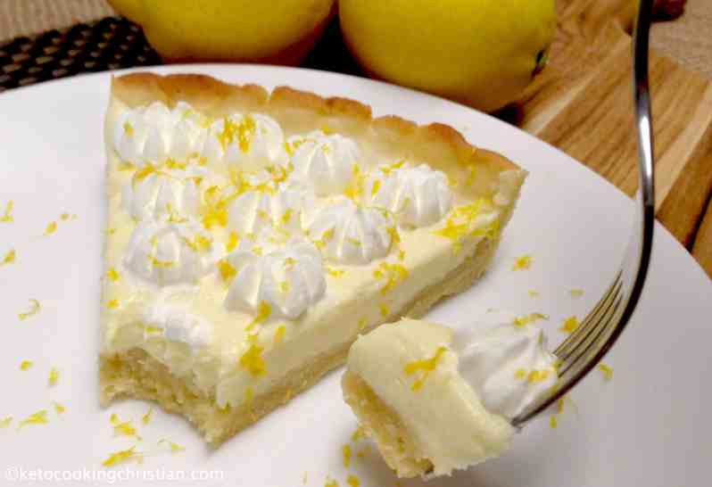 Lemon Mascarpone Tart - Keto, Low Carb & Gluten Free
