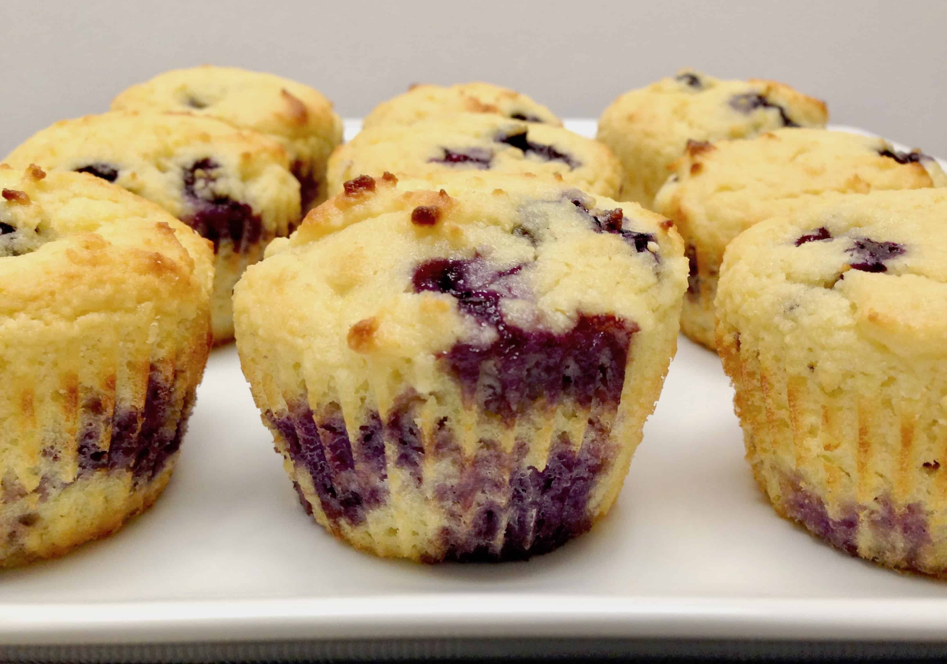Blueberry Lemon Muffins - Keto, Low Carb & Gluten Free
