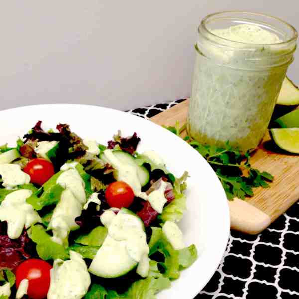 Avocado Lime Cilantro Ranch Dressing & Dip - Keto and Low Carb