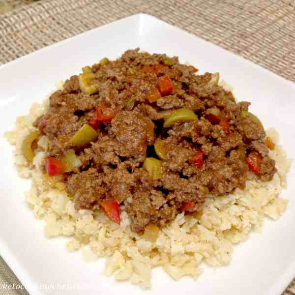 picadillo cauliflower rice low carb keto