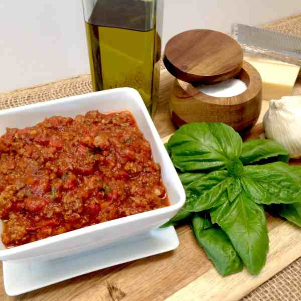 homemade Italian meat sauce keto low carb