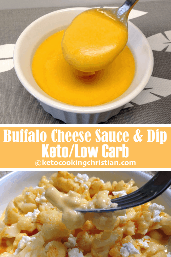 Buffalo Cheese Sauce & Dip - Keto and Low Carb