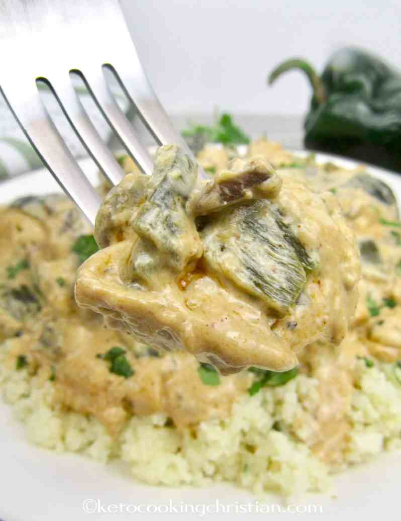 Creamy Poblano Chicken - Keto and Low Carb