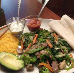 Keto Fajitas. For family members who are't eating keto, add the tortilla.