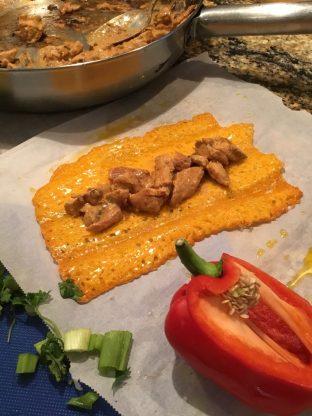 keto enchilada cheese wrap