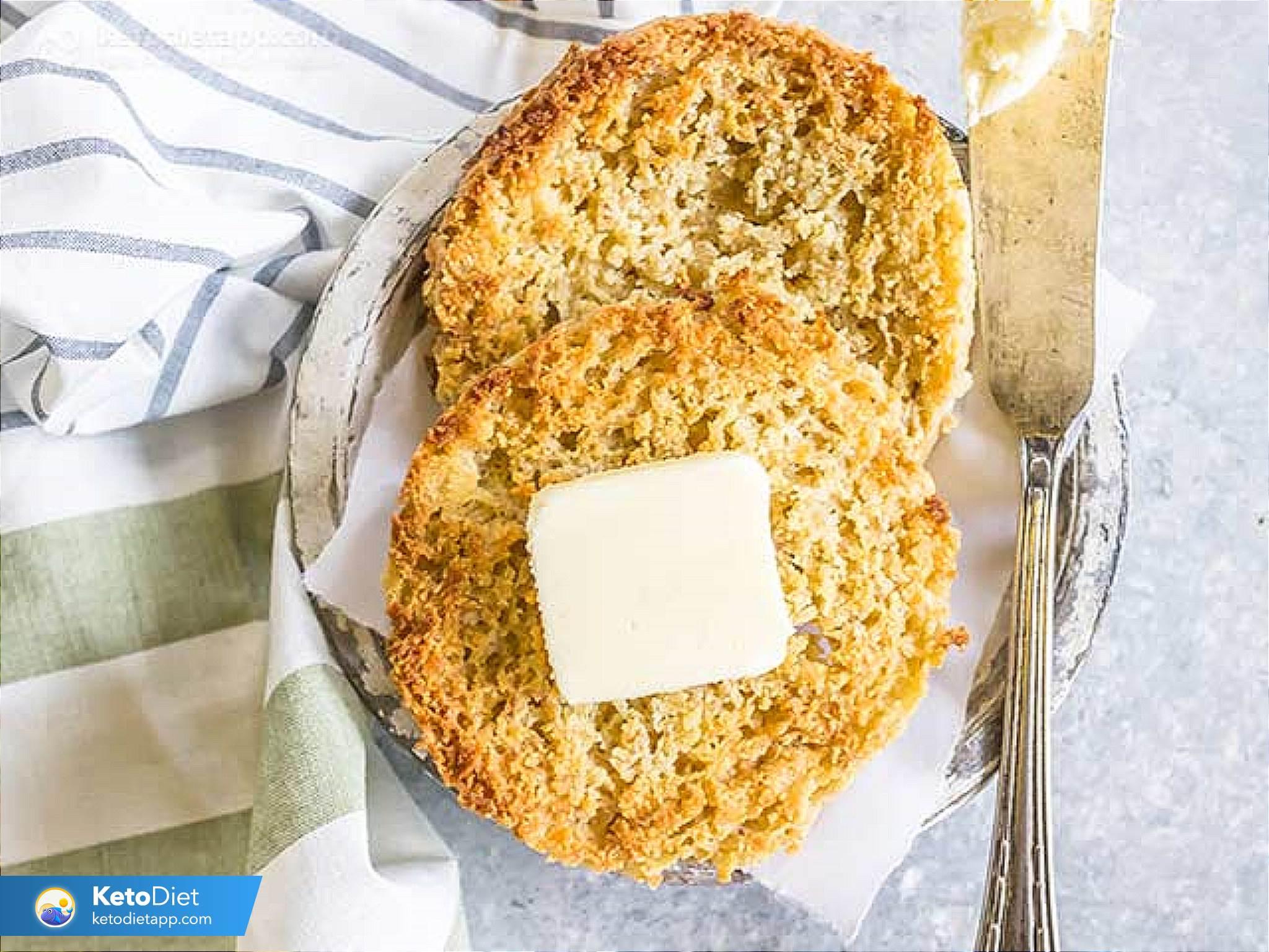quick keto eggless english muffin