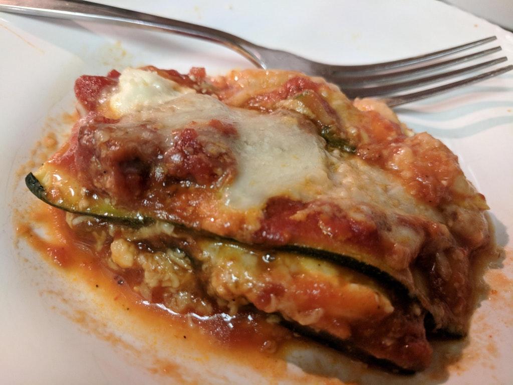 """Zucchini """"lasagna"""""""