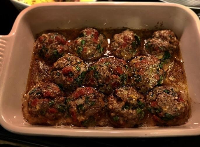 Beef and pepperoni meatballs