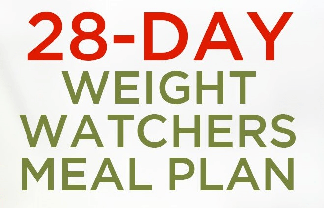 28-Day Weight Watchers Meal Plan