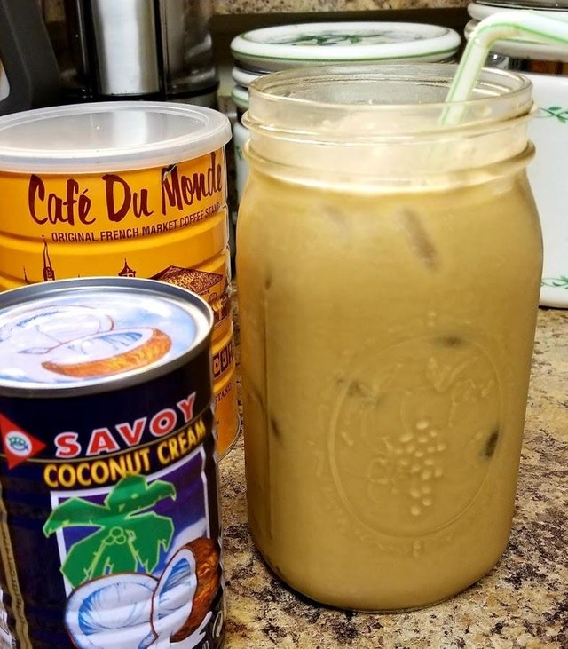 Keto Coconut Iced Coffee! The most boring and basic fat-fueled ice coffee that doesn't curdle in your straw. (Vegan, Dairy Free)