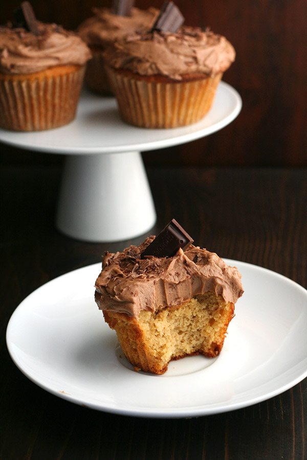 Keto Caramel Cupcake with Chocolate Frosting