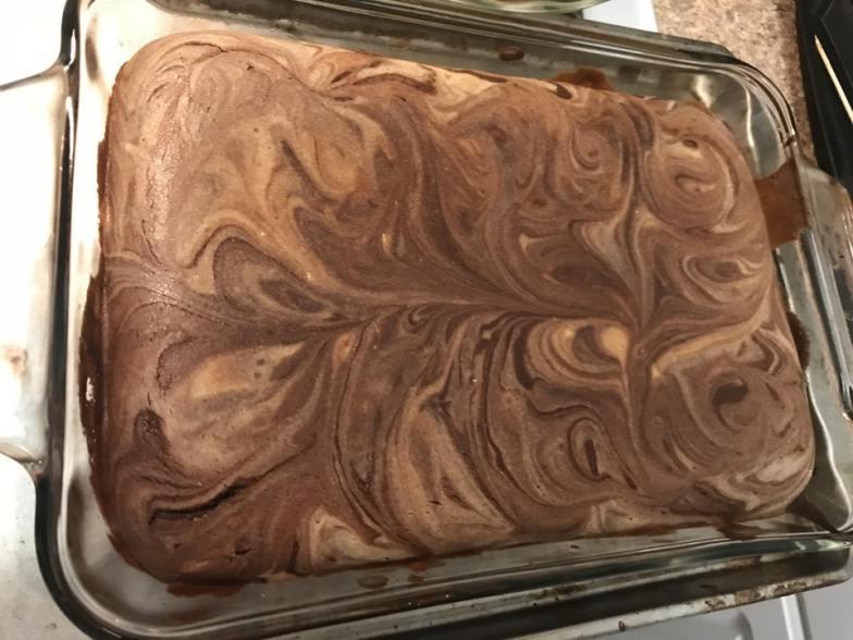 Peanut butter cheesecake brownies