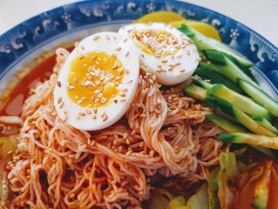 Keto Korean spicy cold noodles
