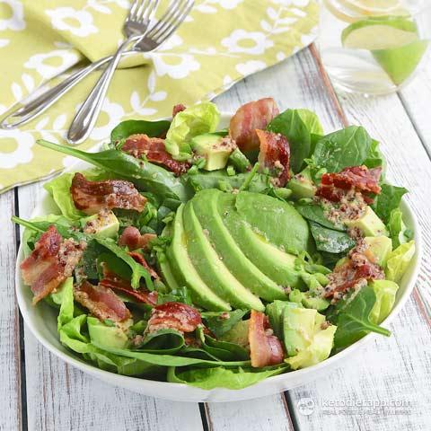 Easy Avocado & Bacon Salad