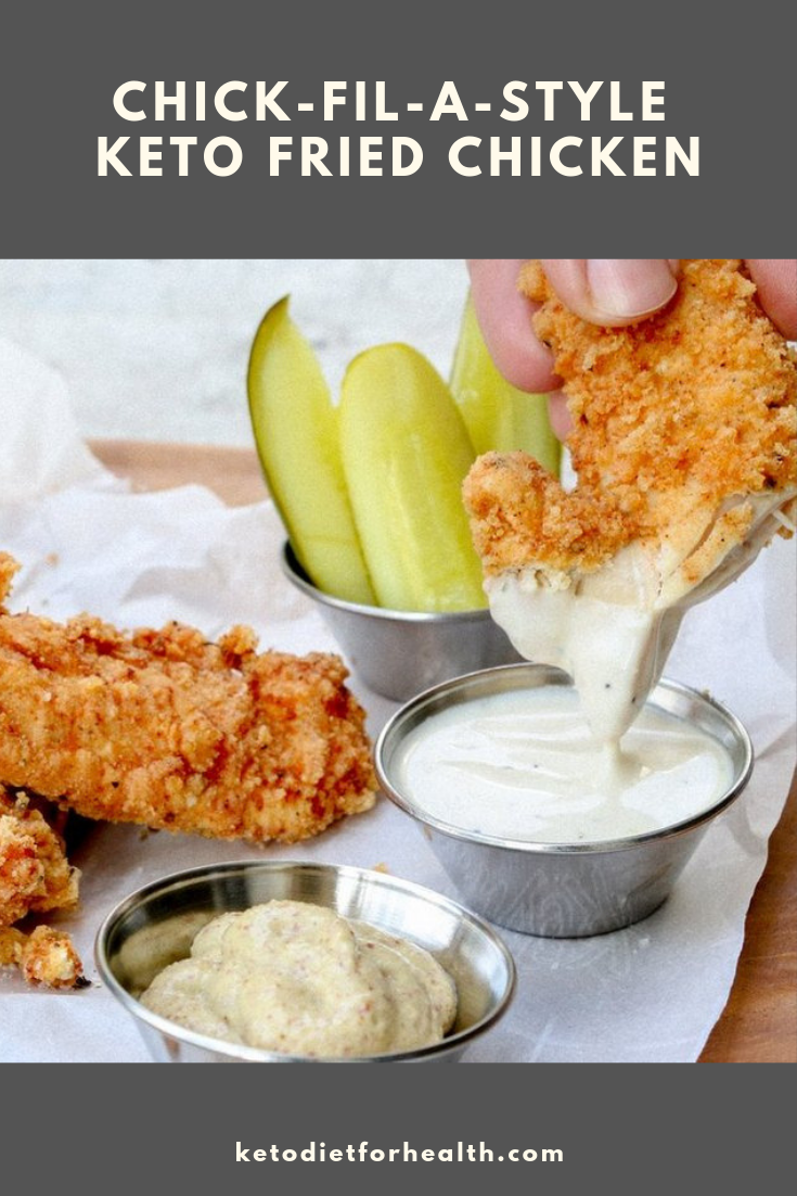 Chick-Fil-A-style Keto Fried Chicken
