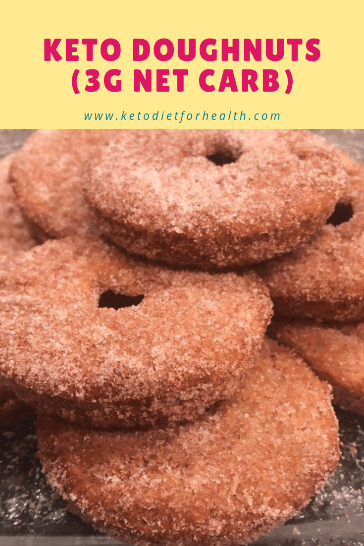 Melt in your mouth delicious! Keto doughnuts (3g net carb)