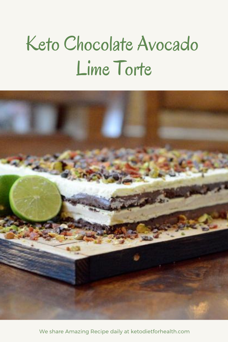 Keto Chocolate Avocado Lime Torte
