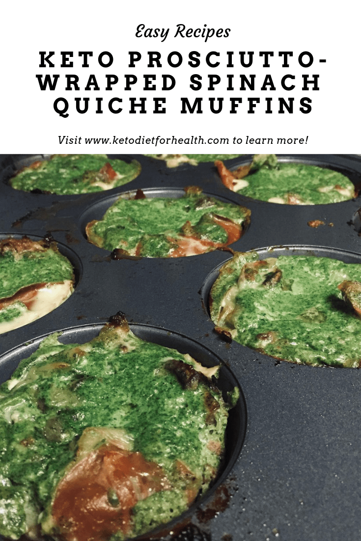 Keto Prosciutto-Wrapped Spinach Quiche Muffins