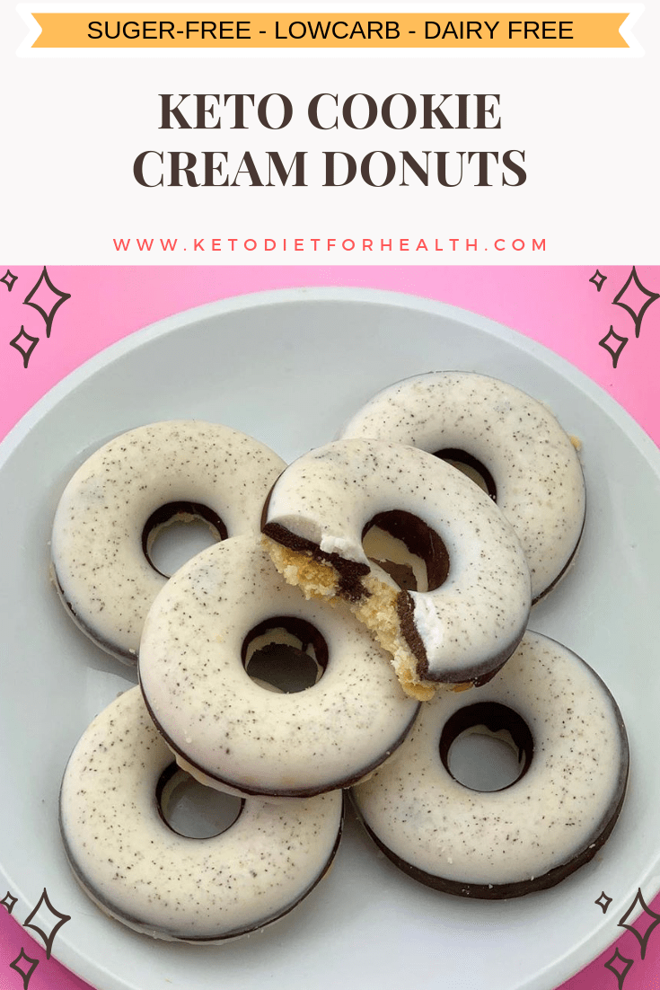 KETO COOKIE CREAM DONUTS