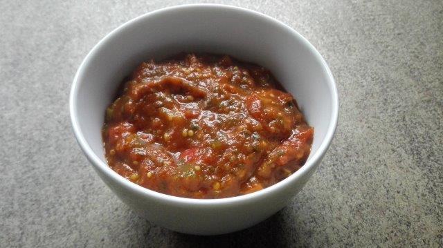 Tomaten-tomatillo ketchup