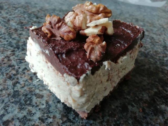 Chocolade-pindakaas cheesecake-repen