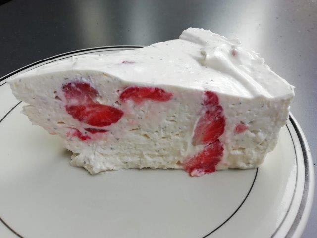 Aardbeien-mascarpone cheese cake