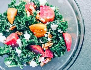 Golden Beet + Kale Salad (Cyclical Keto)