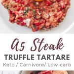 Raw Steak Tartare with Quail Egg