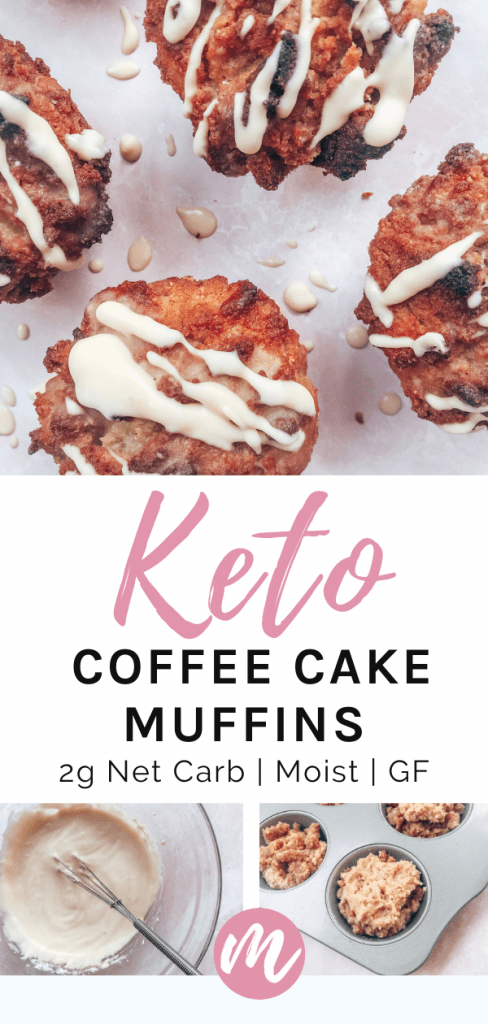 coffee cake muffins drizzled with icing