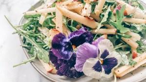 Apple + Manchego Salad with Cider Vinaigrette