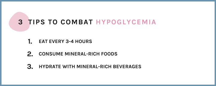 3 tips to combat hypoglycemia