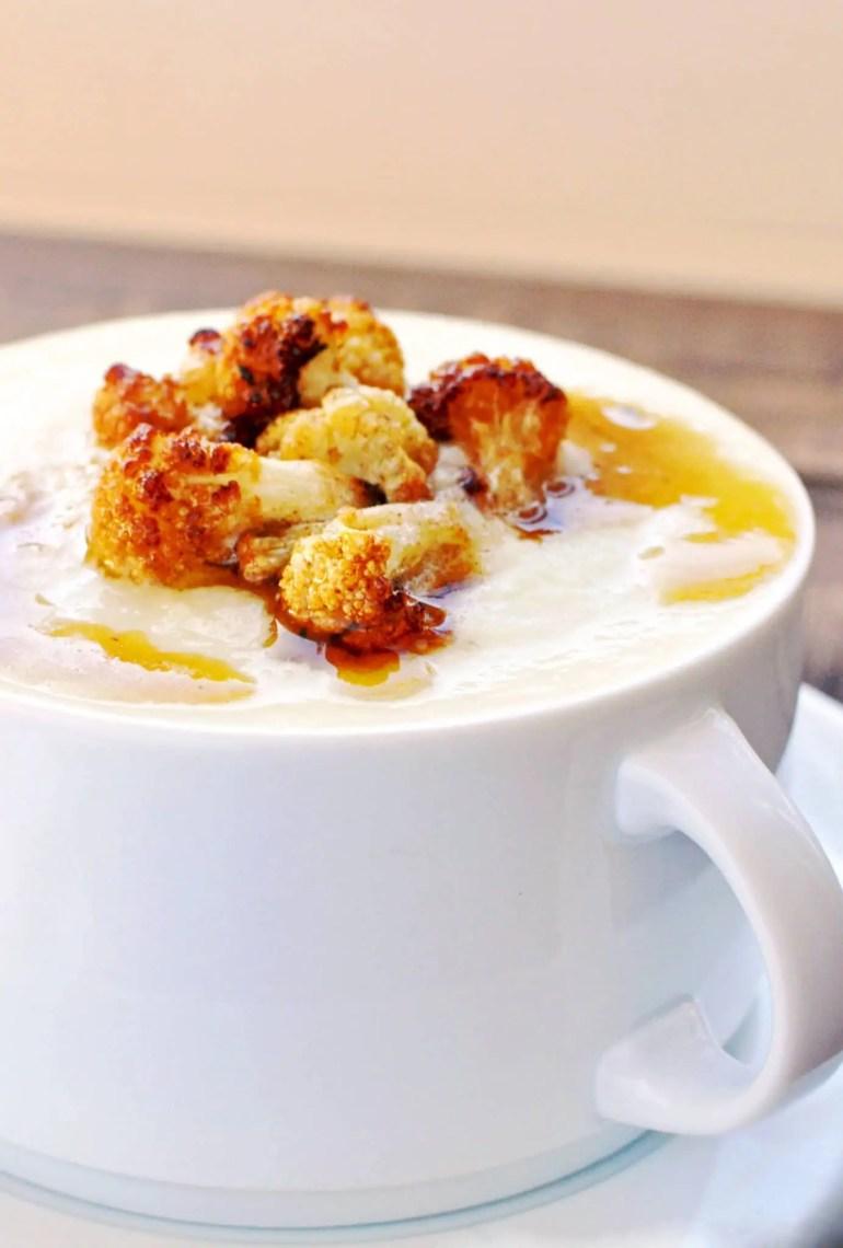 Cream Parmesan Cauliflower Soup | KETOGASM RECIPE #keto #lowcarb #paleo #whole30 #cauliflower #brownedbutter #soup #recipes #vegetarian keto recipes