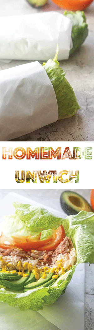 Homemade Unwich - Low Carb Keto Sandwich without Bread