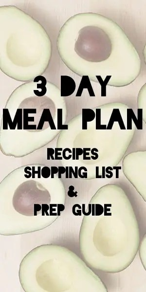 Keto Meal Plan 3-Day