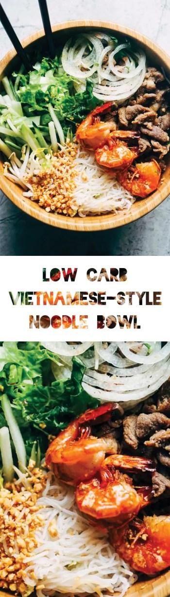 Vietnamese Salad with Shirataki Noodles | Low Carb & Keto Vietnamese-Style Food