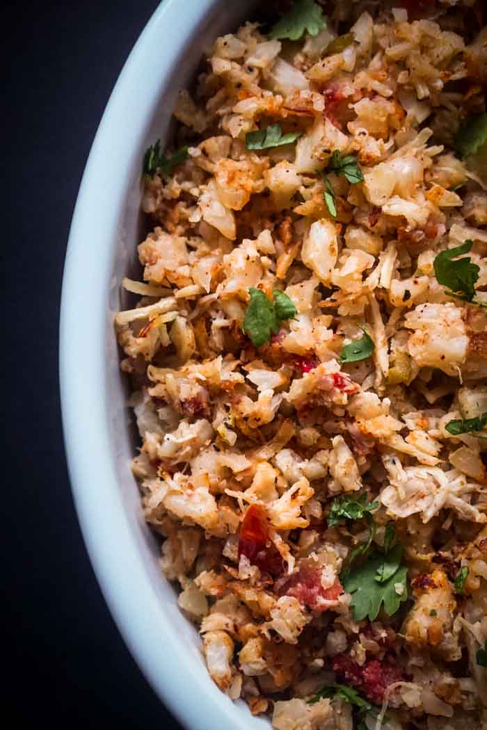 Keto Low Carb Mexican Spanish Cauliflower Rice Recipe