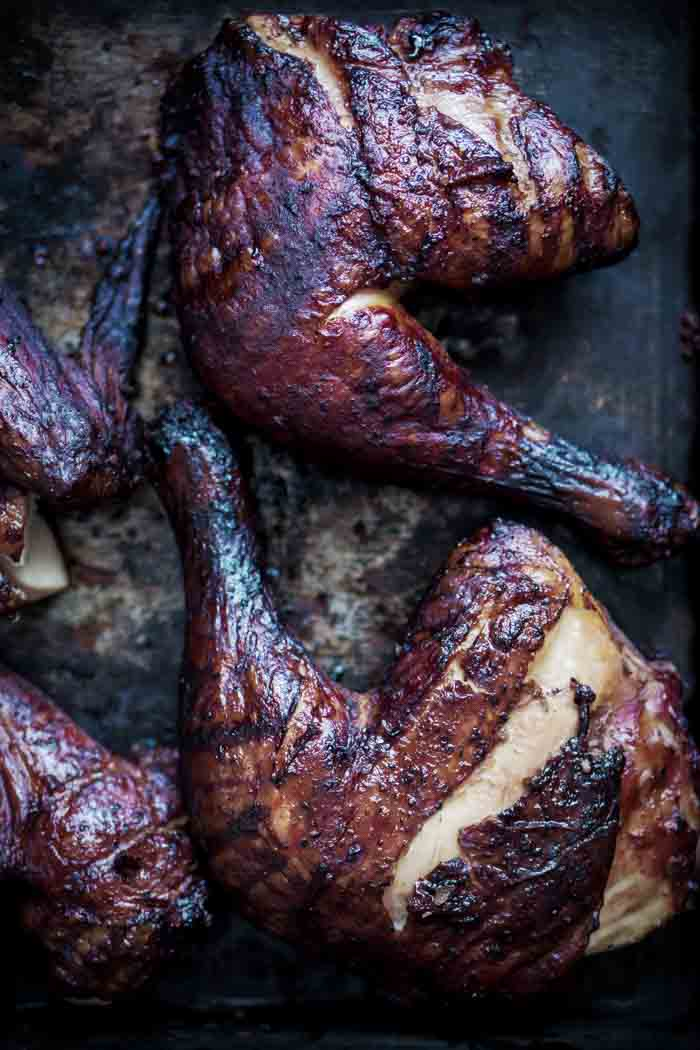 Whole Smoked Chicken without Sugar - Low Carb, Keto, Sugar-free