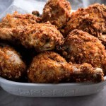 Keto Fried Chicken Recipe Baked in Oven - No Carb Chicken, Gluten Free, Dairy Free