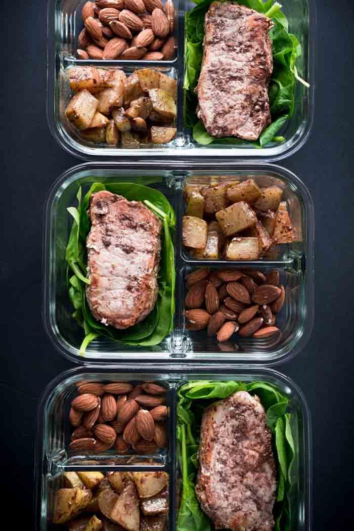 Cinnamon Pork Chops & Chayote Apples Recipe - Keto Meal Prep, Low Carb, Gluten Free, Dairy Free