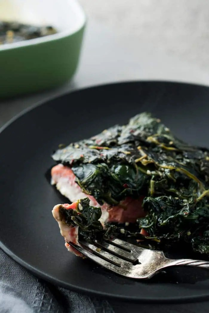Spinach on keto diet - Salmon & Spinach Recipe - Low Carb Salmon Florentine without Dairy