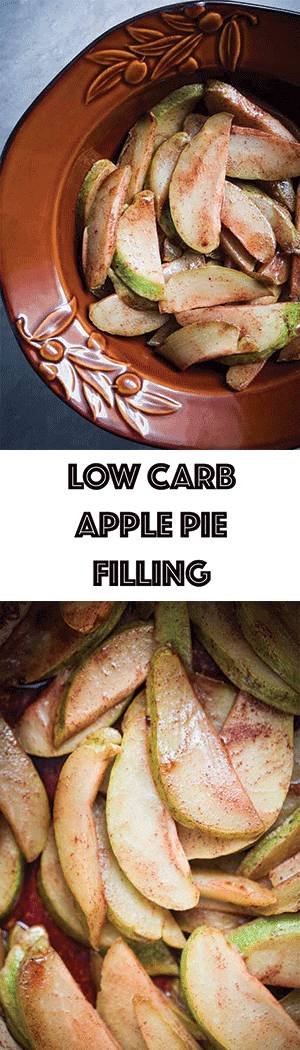 Low Carb Copycat Apple Pie Filling - Keto Friendly, Gluten Free, Dairy Free, Sugar Free